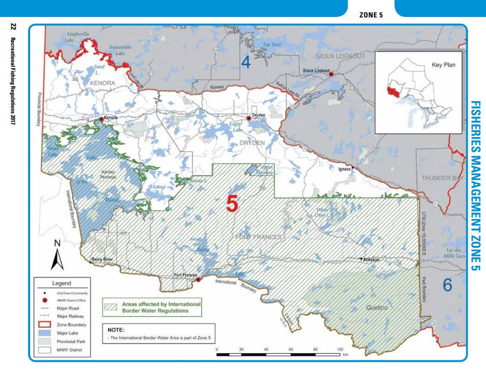 2019 Ontario Fishing Regulations Summary Zone 5