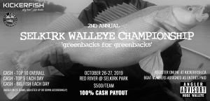 2019 Selkirk Walleye Championship poster